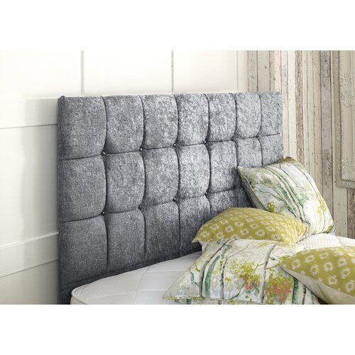 Crushed Upholstered Headboard Willa Arlo Interiors Size Small Single 2 6 Upholstery Silver Room Decor Upholstery Room