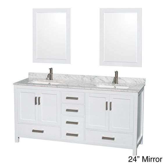 Wyndham Collection Sheffield White 72 Inch Double Vanity By Wyndham Collection Modern Classic