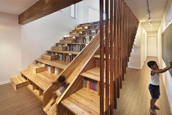 A Clever, Playful House Thats Fitted With A Wooden Slide