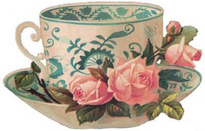 Teacup with roses