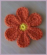 Best crochet flower.: Crochet Flower Pattern, Free Pattern, Yarn Flower, Applies Hook, Crochet Flor, Crochet Pattern, Pretty Flower