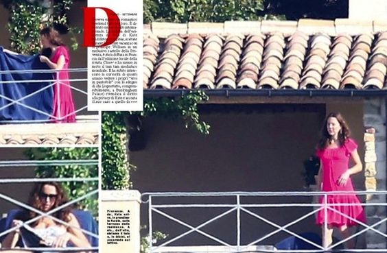 Kate in France, Vacation sunning clothing: