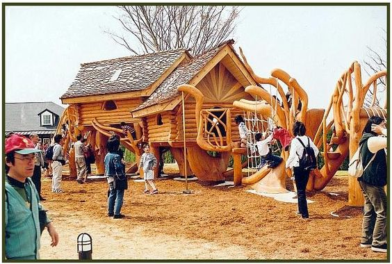 Den Park Anjo, Japan...by Eric Scragg...gorgeous playstructures