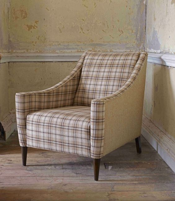 Bressay Check   LF690FR/2   Lunna - Beautiful checked chair inspiration.
