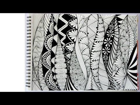Zentangle Art Doodle Patterns Zen Doodle 3 Youtube Zen