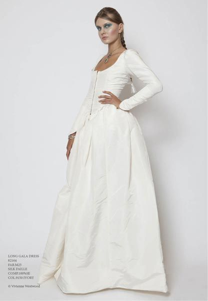 fig.: Long Gala Dress- silk faille in ivory. Photo of the &-39-Wedding ...
