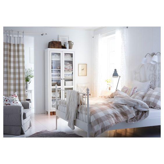 Ikea Leirvik White Espevar Bed Frame In 2020 Comfort Mattress Leirvik Bed Full Bed Frame