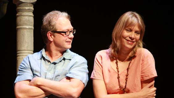 Jeff Perry and Amy Morton in August: Osage County.