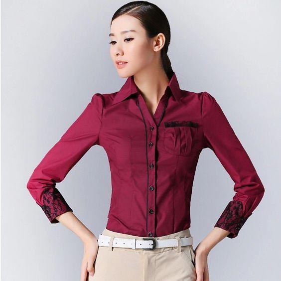 Mujeres del resorte camisa elegante estilo coreano de manga larga del mono Tops oficina ropa mujer Blusas Feminina camisa de la blusa para mujer Tops