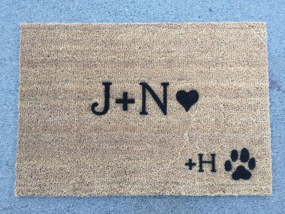 Customize your door mat with your initials + your pets! -Our Mats are 29 Wide x 20 Tall. -These mats are for outdoor use and are so simple to clean.