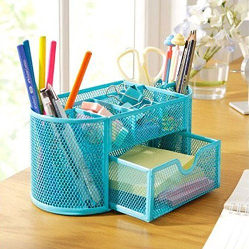 Pag Steel Mesh Desk Organizer Office Organizer Supplies Pen Holder ; Blue, 2015 Amazon Top Rated Drawer Organizers #OfficeProduct