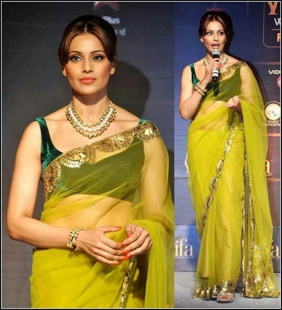 Bipasha in manish malhotra saree
