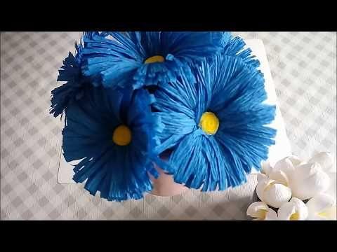 Latwy Kwiatek Z Krepiny Easy Crepe Paper Flower Youtube Paper Flowers Paper Flower Video Flower Garland Diy