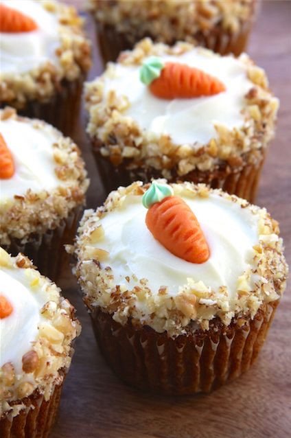 Carrot Cake Cupcakes With Cream Cheese Frosting Family