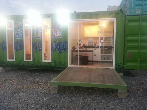 Casa container sobre estacas de concreto-Obra SOS Container: