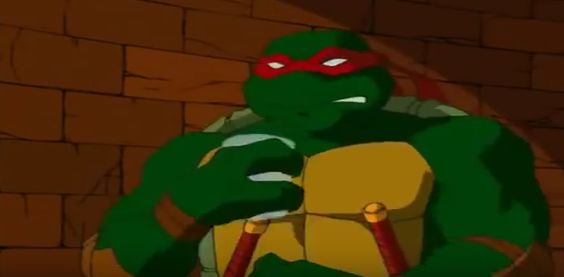 Raph getting annoyed at Mikey.