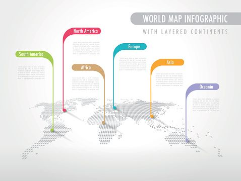 Vector Art : Infographic World Map