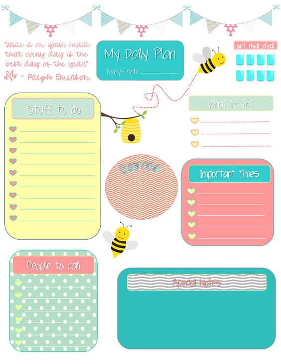 life planner  too cute and free printable on pinterest