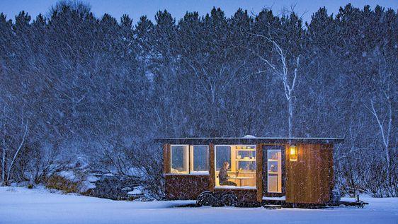 Vivienda de solteros, casa de huéspedes, espacio de trabajo, remolque para acampadas de lujo, resort rural con cabañas... El módulo móvil Escape...