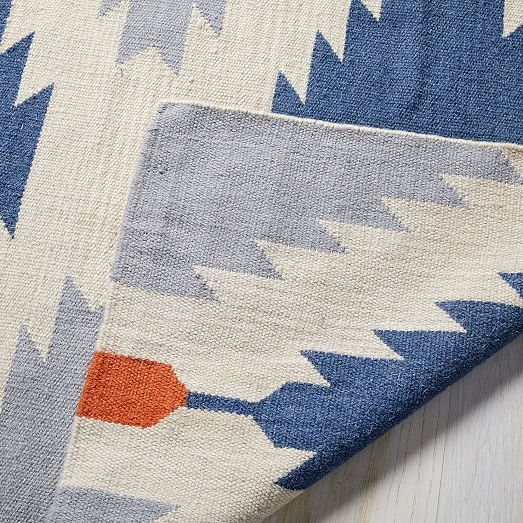 Phoenix Wool Dhurrie Rug Regal Blue In 2020 Dhurrie Rugs Dhurrie Rugs