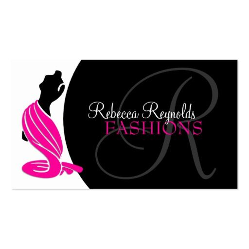 Elegant Fashion Designer Business Card Zazzle Com Boutique Business Cards Business Cards Creative Sewing Logo Design
