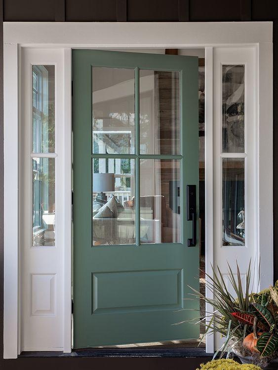 Sherwin Williams Sw 2811 Rookwood Blue Green Front Door Paint Color Sherwin Williams Sw 2811 Rook Green Front Doors Front Door Paint Colors Painted Front Doors