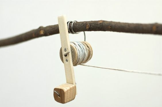 make a fishing rod with a spool reel