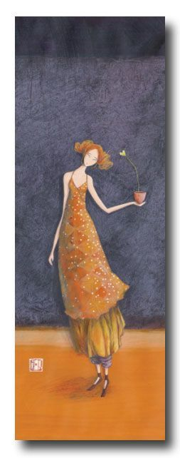 "Gaelle Boissonnard Card (appr. 12"" x 4"") requires extra postage.  Available at Adelaide's Flowers La Jolla.  $8.00:"