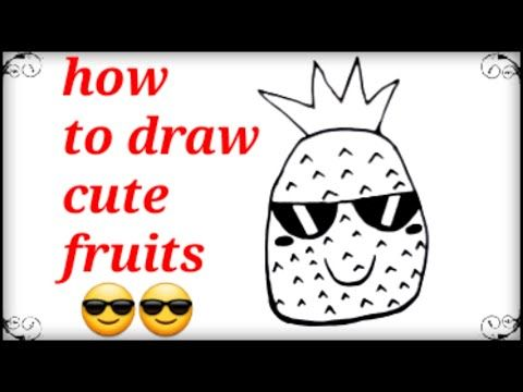 رسم فواكه كرتون بخطوات بسيطة How To Draw Cute Fruits Easy And Simple Youtube Cartoon Drawings Cute Drawings Cute Fruit