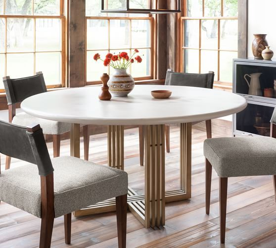 Kilmer Round Dining Table In 2020 Round Dining Table Marble