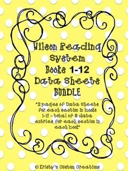 Purchasing this bundle saves you $16 based on purchasing each of the individual book data sheets!!The Wilson data sheets BUNDLE includes data and progress monitoring sheets for EVERY book (books 1-12 in the Wilson Reading Program. The data sheets are developed to assess students' progress in each skill area of the Wilson Reading System program.