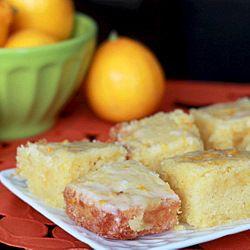 Meyer Lemon Cake Bars. Moist, buttery, rich, and the perfect balance of lemony-sweet.