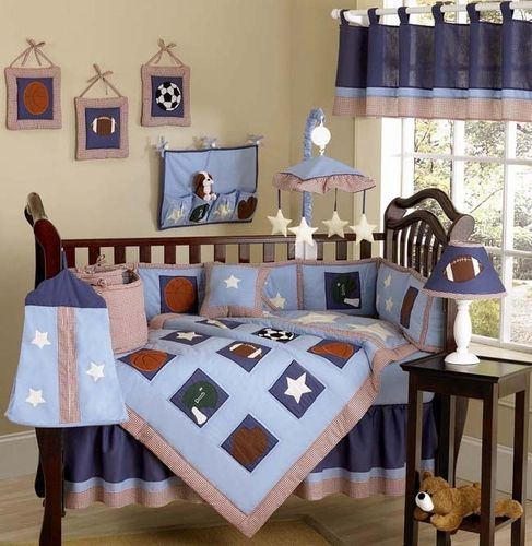 sports themed baby room