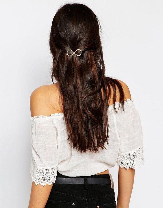 DesignB London Gold Infinity Hair Clip