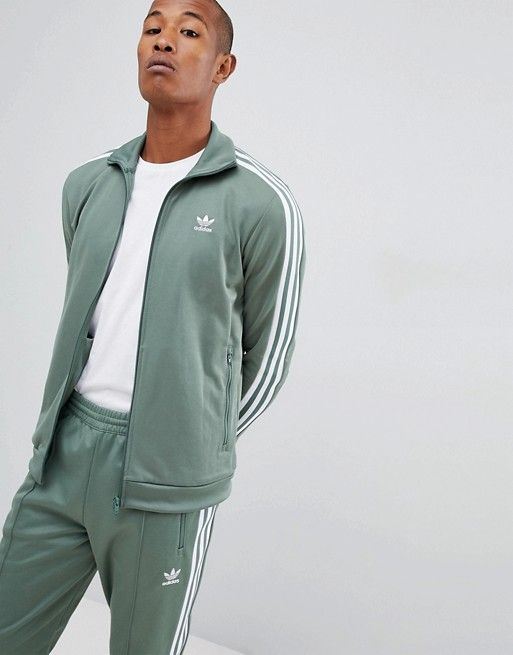 adidas Originals Beckenbauer Tracksuit in Green | Adidas