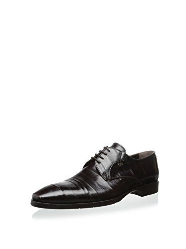 Dino Bigioni Shoes Men's Embossed Dress Oxford (Brown)