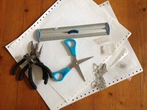 DIY Boucles d'oreilles origami 1 - It's her mess