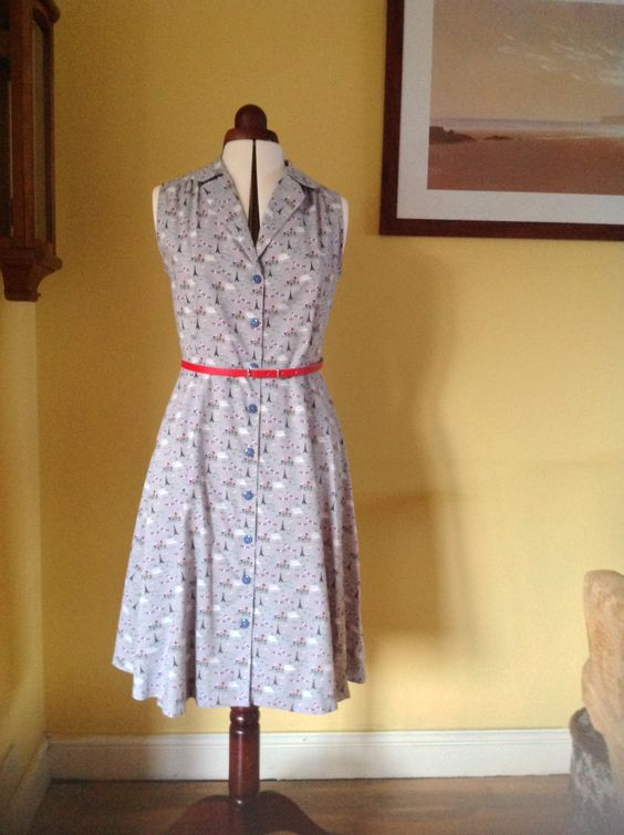 May 5 #mmmay16 Sew Over It vintage shirt dress