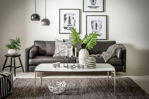 Stue i sort og hvidt. se mere på http://www.madogbolig.dk ...