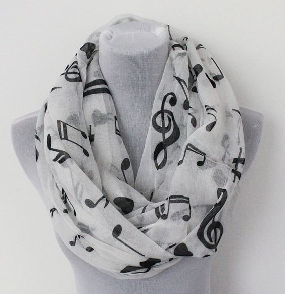 Hey, I found this really awesome Etsy listing at https://www.etsy.com/listing/204715084/music-sheet-infinity-scarf-black-music