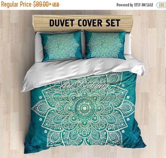 bohemian bedding boho chic deco mandala queen king full twin duvet cover set vintage mandala duvet cover set boho chic duvet cover set viu2026