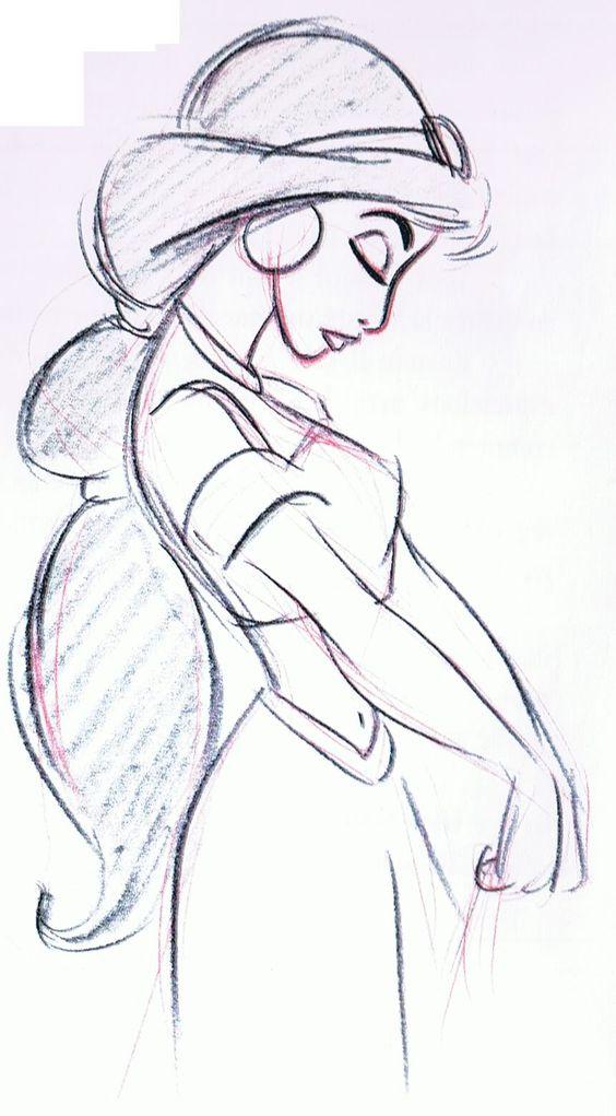 Mark Henn's Jasmine - notice how he draws profile shoulders