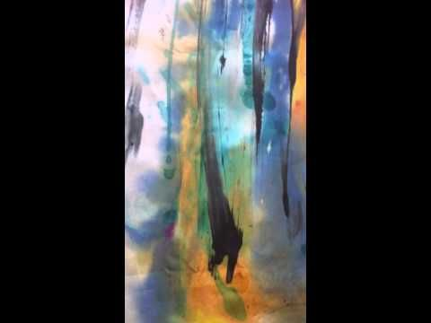 How to Paint Abstract Art on Silk by Michele Morgan at Morgancreations - YouTube