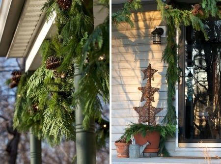 My all natural front porch decor