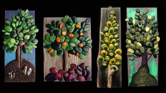 Stone painting by Michela Bufalini