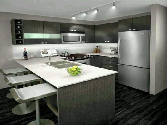 Cocina moderna dise o decoraci n y estilo pinterest - Colores de pintura para cocinas modernas ...