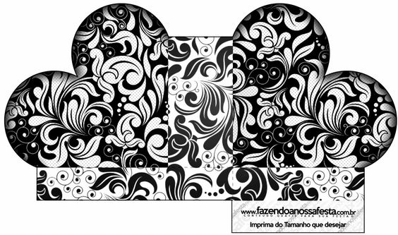 Blanco y Negro: Cajas para Imprimir Gratis.