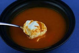 Sweet Potato and Chorizo Soup in the slow cooker.  I need to make this again.  YUMMMMM!!