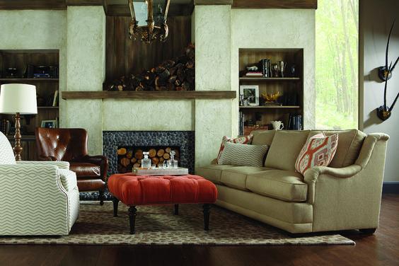 Log Cabin Cozy! Clayton Marcus By Rowe Furniture. Kingsley Sofa