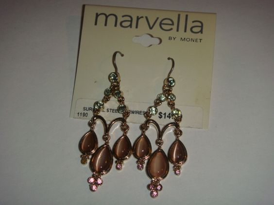 Stunning pair of earrings by Marvella!  New, never worn - Free shipping to USA & Canada!